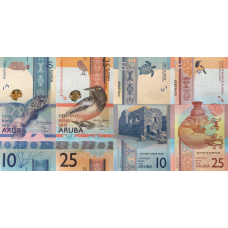 (784) ** PNew Aruba 10 & 25 Florin Year 2019 (2 Notes)