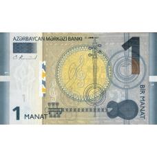 (955) ** PNew Azerbaijan 1 Manat Year 2017
