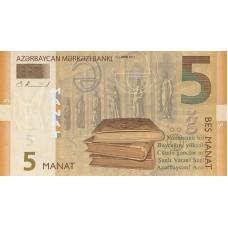 (956) ** PNew Azerbaijan 5 Manat Year 2017