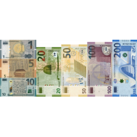 (511) Azerbaijan P27,P28, P29, P31, P32, P33 & PNew - 1,5,10,20,50,100 & 200 Manat (Various Years) (Set of 7 Notes)