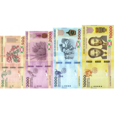 (793) ** PNew Burundi Serie 4 Notes (500,2000,5000,10.000 Francs) Year 2018