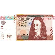 (416) Colombia P453q - 10.000 Pesos Year 2013/2014