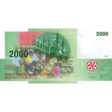 (400) Comores P17c - 2000 Francs Year 2000
