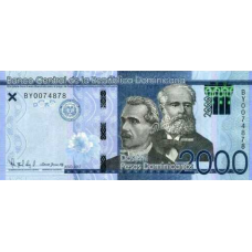 (749) ** PNew Dominican Republic 2000 Pesos Year 2017 (2019)