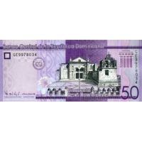 (748) ** PNew Dominican republic 50 Pesos Year 2017 (2019)