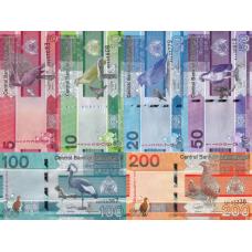 (774) ** PNew Gambia 5,10,20,50,100 & 200 Dalasis (Set of 6 Notes) Year 2019