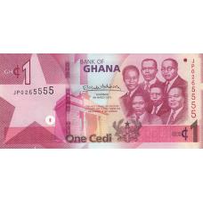 (705) ** PNew Ghana 1 Cedi Year 2019