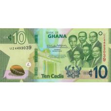 (707) ** PNew Ghana 10 Cedis Year 2019