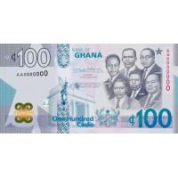 (710) ** PNew Ghana 100  Cedis Year 2019