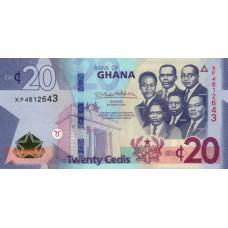 (708) ** PNew Ghana 20 Cedis Year 2019