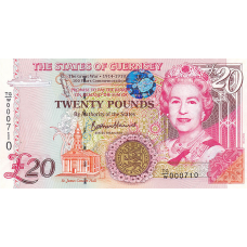 (809) ** PNew Guernsey 20 Pounds Year 2018 (Comm.)