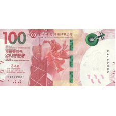 (756) ** PNew Hong Kong 100 Dollars Year 2019 (Bank of China)