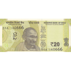 (773) ** PNew India 20 Rupees Year 2019