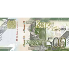 (791) ** PNew Kenya 500 Shilingi Year 2019