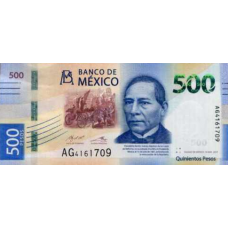 (750) ** PNew Mexico 500 Pesos Year 2017