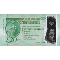 (702) ** PNew Northern Ireland 20 Pounds Year 2020 (Bank of Ireland)