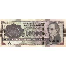 (412) Paraguay P224d -10000 Guaranies Year 2010
