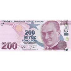 (402) Turkey P27d - 200 Lira Year 2009