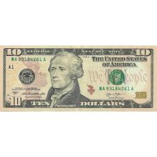 (509) U.S.A. P540 - 10 Dollars Year 2013