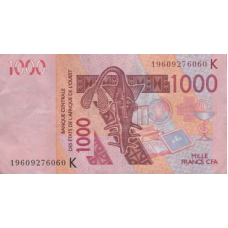 (502) West African States (Senegal) P715K 1000 Francs Year 2019