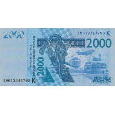(503) West African States (Senegal) P716K 2000 Francs Year 2019