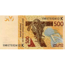 (504) West African States (Senegal) P719K 500 Francs Year 2019