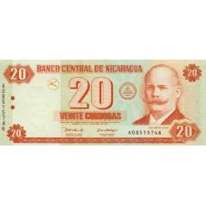 P197 Nicaragua 20 Cordobas Year 2006