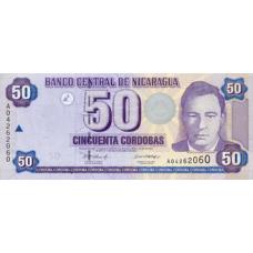 P198 Nicaragua 50 Cordobas Year 2006