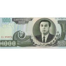 P45 Korea North 1000 Won Year 2002