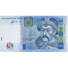 P118c Ukraine 5 Hryvnia Year 2011