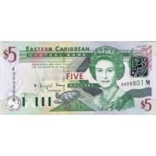 P42Mf Eastern Car States 5 Dollars Year nd