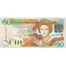 P45M Eastern Caribbean 50 Dollars Year nd