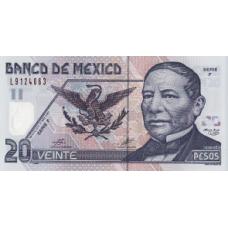 P116e Mexico 20 Pesos Year 2005 Polymer
