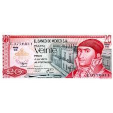 P 64d Mexico 20 pesos Year 1977