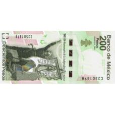 P129 Mexico 200 Pesos year 2010 Commemmorative