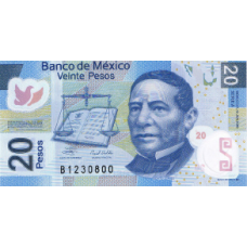 P122b Mexico 20 Pesos year 2006