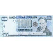 P199 Nicaragua 100 Cordobas Year 2006