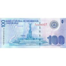 P204 Nicaragua 100 Cordobas year nd (2009)