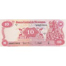 P134 Nicaragua 10 Cordobas Year 1979