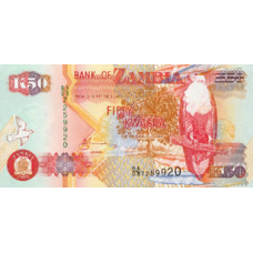 UNC 2003 P-45 Zambia 5000 Kwacha Original Banknotes